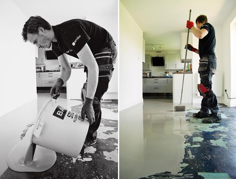 Karndean Kitchen Flooring Luxury Vinyl Tiles With A Border